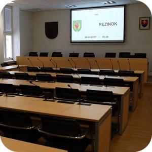 Zasadačka mestského zastupiteľstva Pezinok